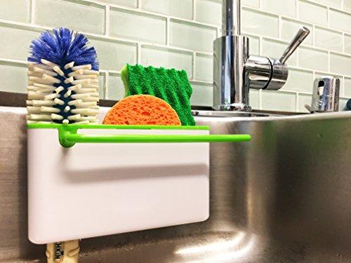 Star Element Sink Caddy Kitchen Soap Sponge Holder and Brush Holder Multifunction Sink Organizer for Countertop