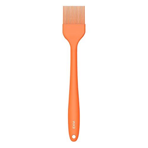 EXVI 10 inch Silicone Basting Pastry Brush Oil Basting Brush Bbq Brushe Barbecue Utensil - Orange