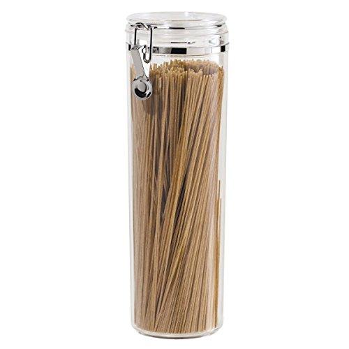 Oggi Acrylic Airtight Pasta Canister with Clamp 4Dia x 12H 2