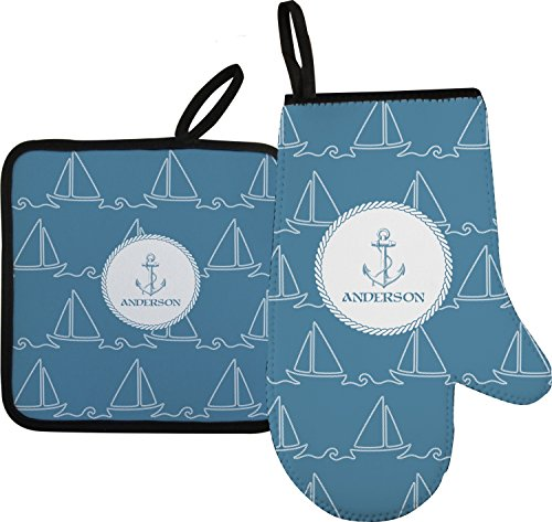 Rope Sail Boats Oven Mitt Pot Holder Personalized