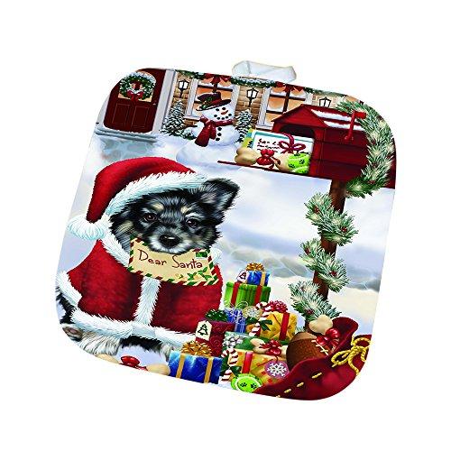 Australian Shepherd Dear Santa Letter Christmas Holiday Mailbox Dog Pot Holder D081