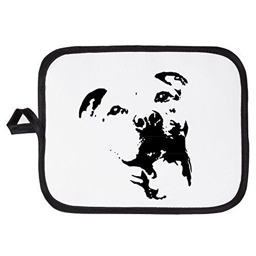 CafePress - Pitbull Dog - Pot Holder Heat Resistant Fabric Trivet