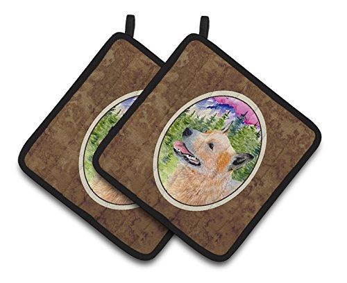 Carolines Treasures SS8335PTHD Australian Cattle Dog Pot Holders 1 Pair 75 x 75 Multicolor
