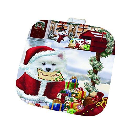 Dear Santa Mailbox Christmas Letter American Eskimo Dog Pot Holder D110