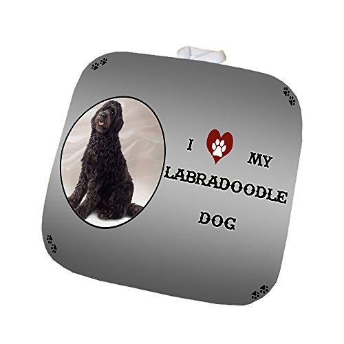 I Love My Labradoodle Brown Dog Pot Holder