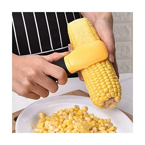 Jeeke Corn Slicer Peeler Thresher Tool Kitchen Cob Cutter Stripper Remover Kernel Cutter Stainless Steel Silver