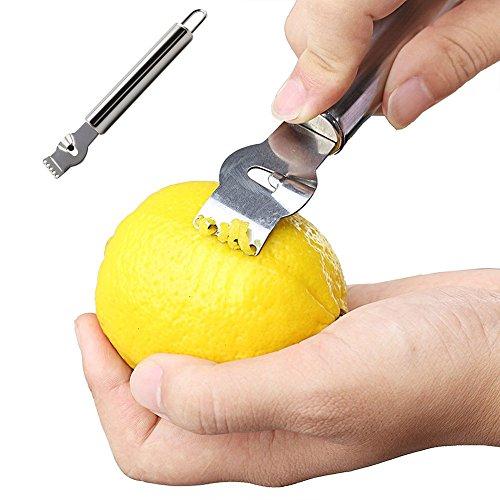 Stainless Steel Lemon Zester gloednApple Orange Lime Citrus Scraper Peeler Hanging Kitchen Tool
