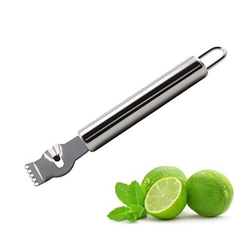 Stainless Steel Zester Lemon Peeler Orange Lime Citrus Scraper