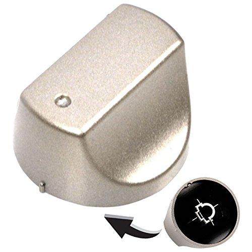Hotpoint Cooker Oven Hob Hot-ari ix Control Knob Dial Silver
