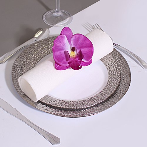 Silver Touch Collection 480 Pieces Plastic China Like Plates Silverware Combo for 80 People 160 Silver Touch Collection White Plates 320 Upscale Collection Silver Like Cutlery