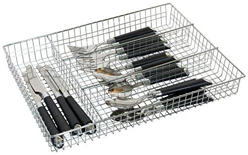 Home Basics Cutlery Holder Tray Chrome