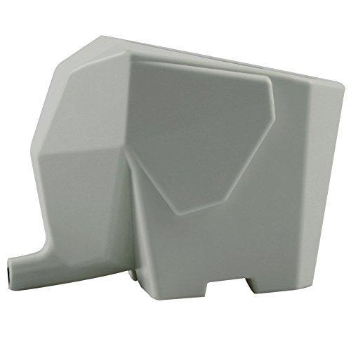 ANKKO Creative Elephant Kitchen Cutlery Drainer Bathroom Cosmetic Pen Brush Holder Organizer Storage Box Grey