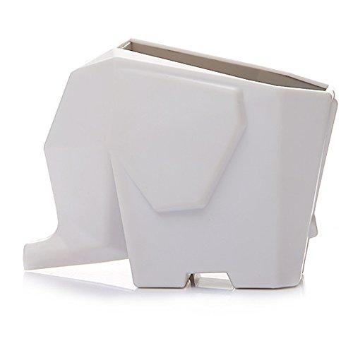 KKANG Lovely Elephant Shape Cutlery Drainer Kitchen Bathroom Dish Holder Rack White