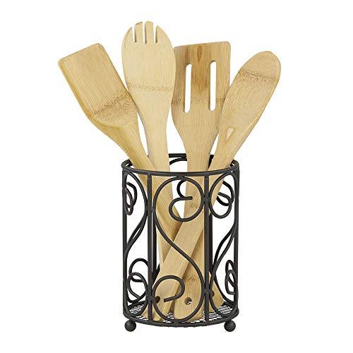 Home Basics Black Cutlery Holder