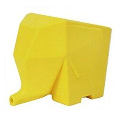 YiyuanSupermarket Elephant Kitchen Cutlery Drainer Bathroom Cosmetic Storage Holder Box Yellow