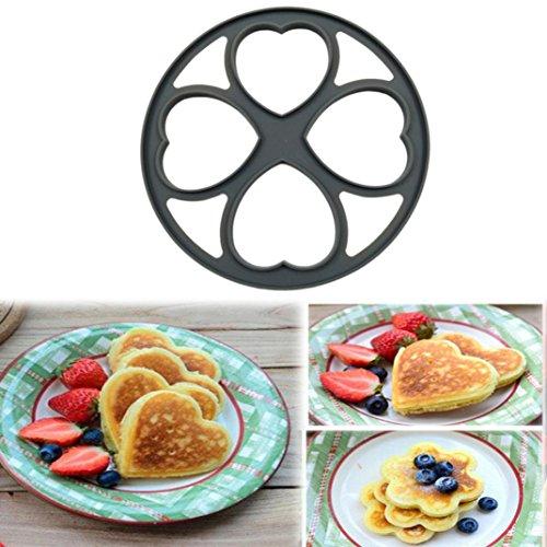 MemelaTM 4 Shapes Non Stick Pancake Pan Flip Perfect Breakfast Maker Egg Omelette Tools