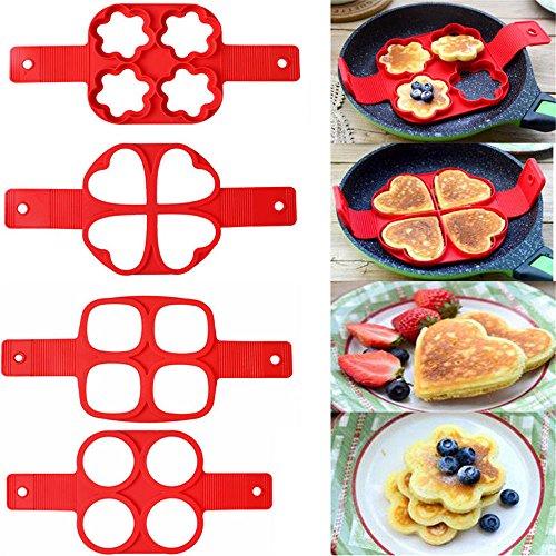 Non Stick Pancake Pan Flip Breakfast Maker Egg Omelette Flipjack Tools UP