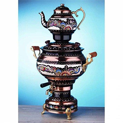 Electric Tea Maker Tea Machine Copper Samovar Kettle Pot Decorative Desing Tea Maker