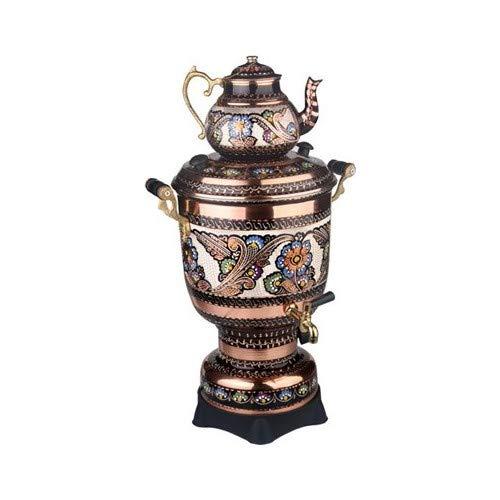 Electric Tea Maker Tea Machine Copper Samovar Kettle Pot Decorative Desing Tea Makerhas a Volume Portion