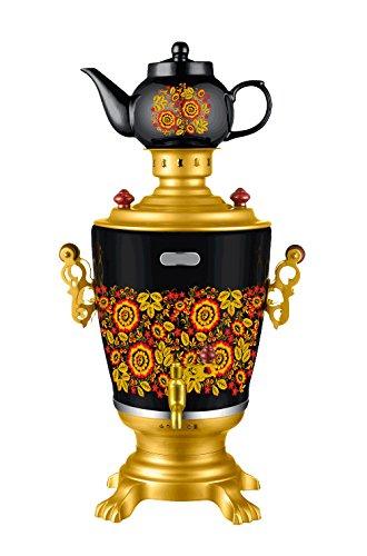 Russian Modern Electric Samovar Teapot Set Khokhloma Design Tea Kettle Teakettle