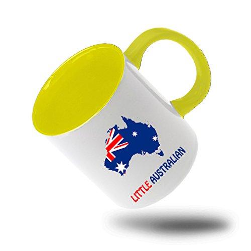Style In Print Little Australian Coffee Tea Colored Inside And Handle Mug WhiteYellow