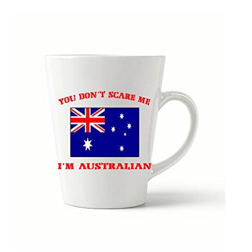Style In Print You Dont Scare Me Im Australian Coffee Tea Ceramic Latte Mug 12 Oz