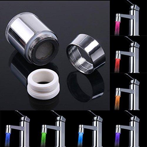 Exteren Temperature Sensor 7 Color Kitchen Water Tap Faucet Glow Shower LED Light B