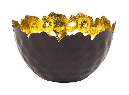 Golden Fire Leaf Gilded Decorative Bowl Votive Candle Holder - 5