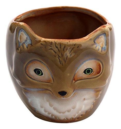 Hills Parks 35 x 4 Tan Fox Pottery Decorative Bowl