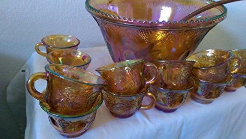 Indiana Harvest Gold Punch Bowl Set