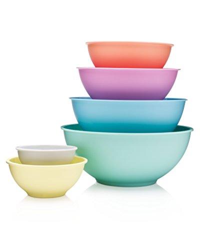 Francois et Mimi 6 Piece Colorful 100 Melamine Mixing Bowls Mixing Bowl Set Pastel