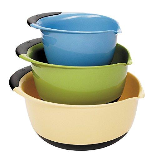 OXO Good Grips 3-Piece Mixing Bowl Set BlueGreenYellow