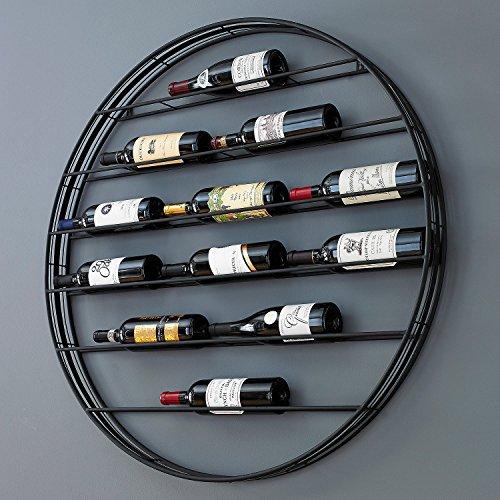12-Bottle Label View Wall Wine Rack
