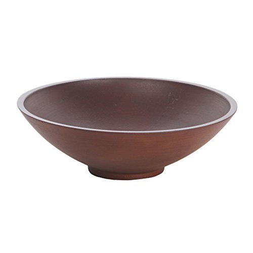 Hosley Brown Wood Decorative Bowl 118-Inch
