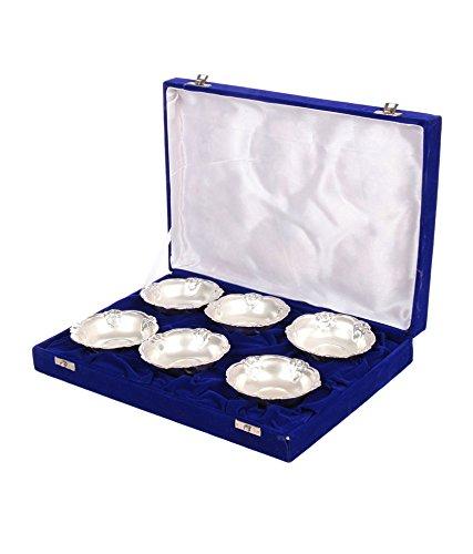 Odishabazaar 6 Silver Bowl Set with Velvet Gift Box