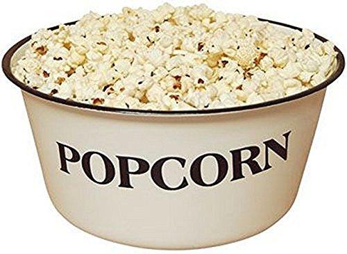 Enamelware Popcorn Bowl 4 34 tall and 9 34 in diameter 4 Quart