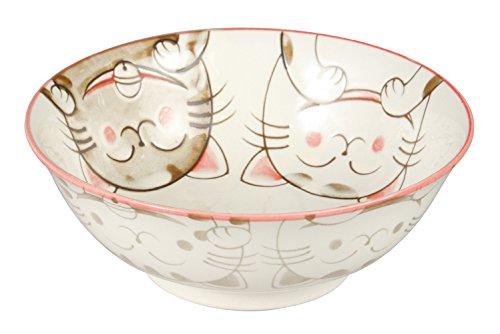 Minoru pottery Ceramic Crystal CAT 63-Minoru Ramen Bowl PK