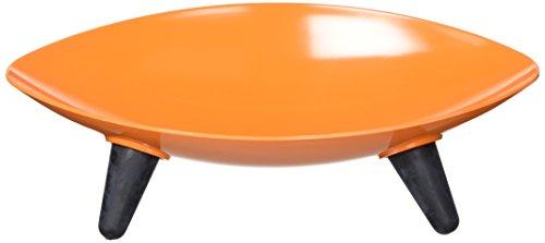 PET LIFE Couture Sculptured Dishwasher Safe Melamine Fashion Designer Food or Water Pet Cat Dog Bowl Feeder Waterer One Size Orange