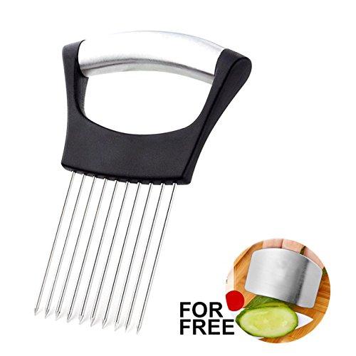 Best Utensils Onion Holder For Slicing Tomato Lemon Slicer Holder Vegetable Potato Cutter Slicer Meat Tenderiser Stainless Steel Cutting Kitchen Gadget