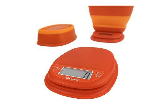 Escali B115VO Pop Digital Scale wCollapsible Bowl 11-Lb5kg Vintage Orange by Escali