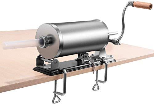 GOFLAME 36L Horizontal Sausage Stuffer Maker for Home Resturant Commercial Stainless Steel Maker Meat Filler
