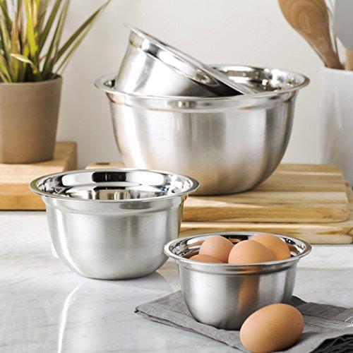 Wayfair Basics Oven Safe Stainless Steel Mixing Bowl Set 4-Piece