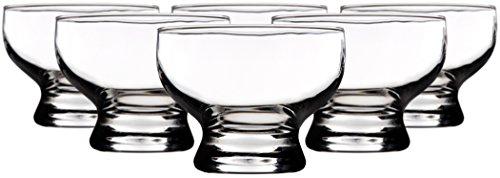 Palais Glassware Clear Glass 8 Ounce Dessert Ice Cream Bowls Set of 6