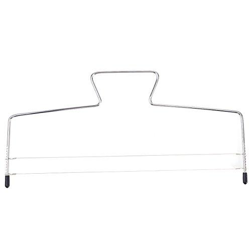 OUNONA Adjustable 2-Wire Layer Cake Cutter LevelerStainless Steel Cake Slicer32X16CM