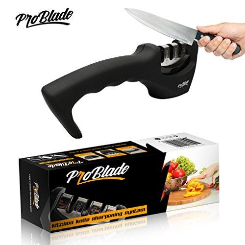 Pro Blade 3 Stage Professional Kitchen Knife Sharpener