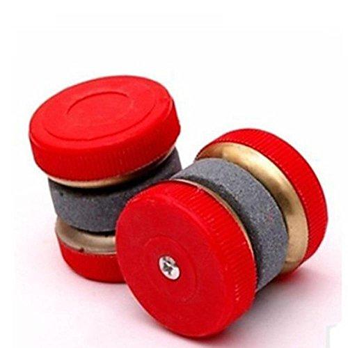 MAXGOODS KnifeBlade Sharpener Stone Two2 Wheel Stone AbraderGrindingKitchenRandom color4-Pack