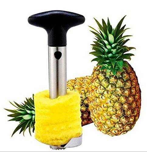 304 Stainless Steel Pineapple Corer Slicer Peeler Cut Stem Remover Blades for Diced Fruit Rings