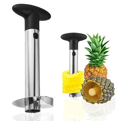 SVMAS Pineapple Corer Slicer  Stainless Steel Pineapple Corer Peels Fruit Kitchen Tool Set for Cutting PineappleBlack