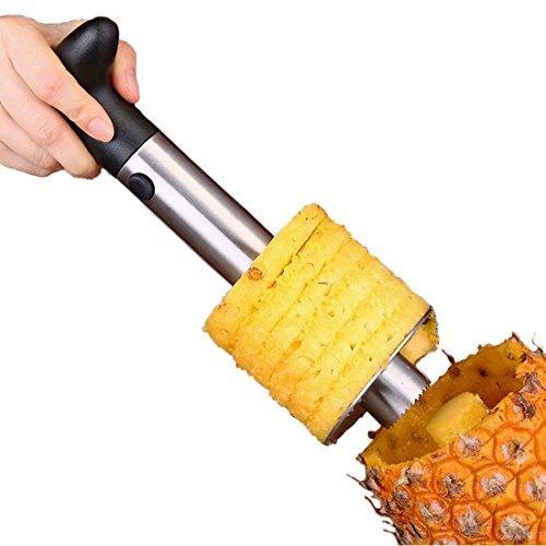 Stainless Steel Pineapple Corer Peeler Stem Remover Blades for Diced Fruit Rings Slicer