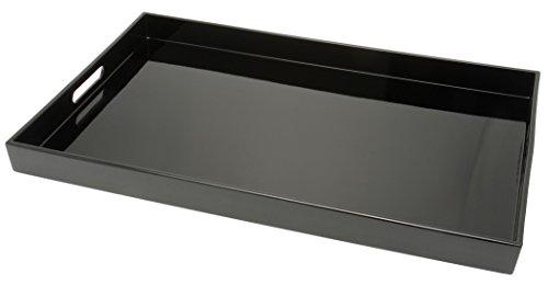 Kotobuki Rectangular Lacquer Serving Tray 18-34-Inch Black